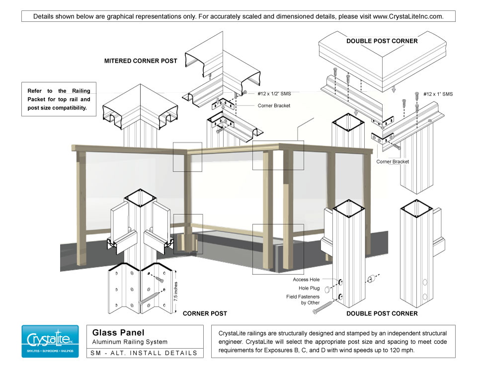 Exterior Glass Railing Details Exterior Frameless Glass Deck Railing With Aluminum U Channel