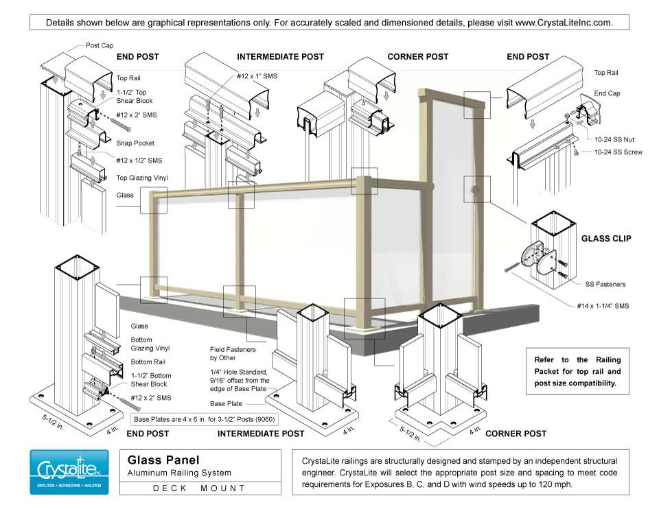 glass railing crystalite inc. Black Bedroom Furniture Sets. Home Design Ideas