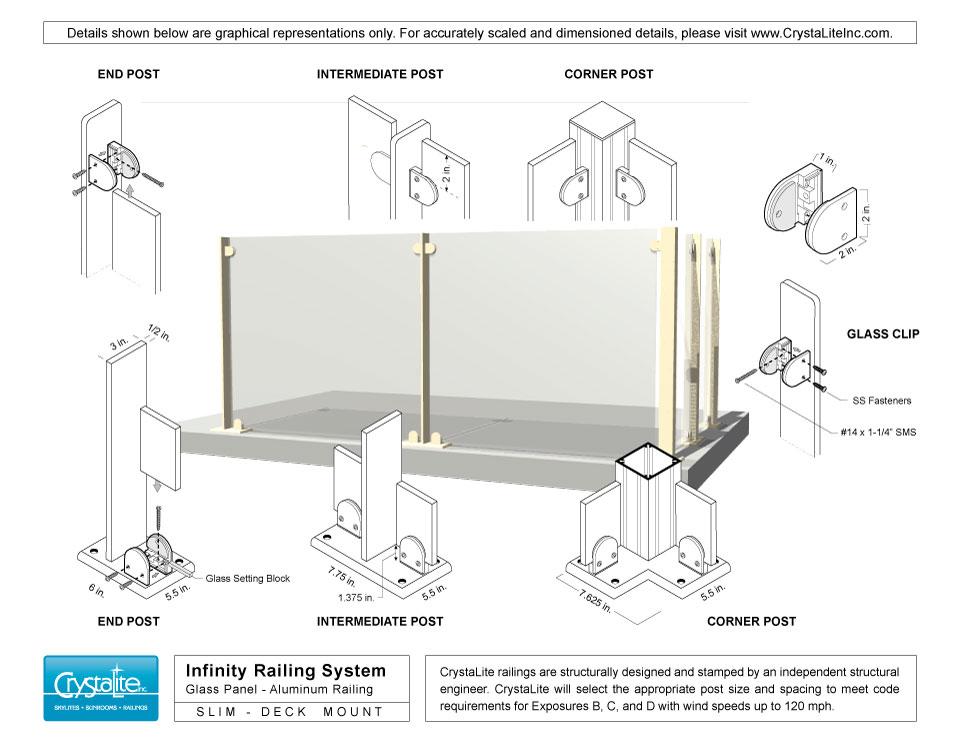 infinity railing crystalite inc. Black Bedroom Furniture Sets. Home Design Ideas