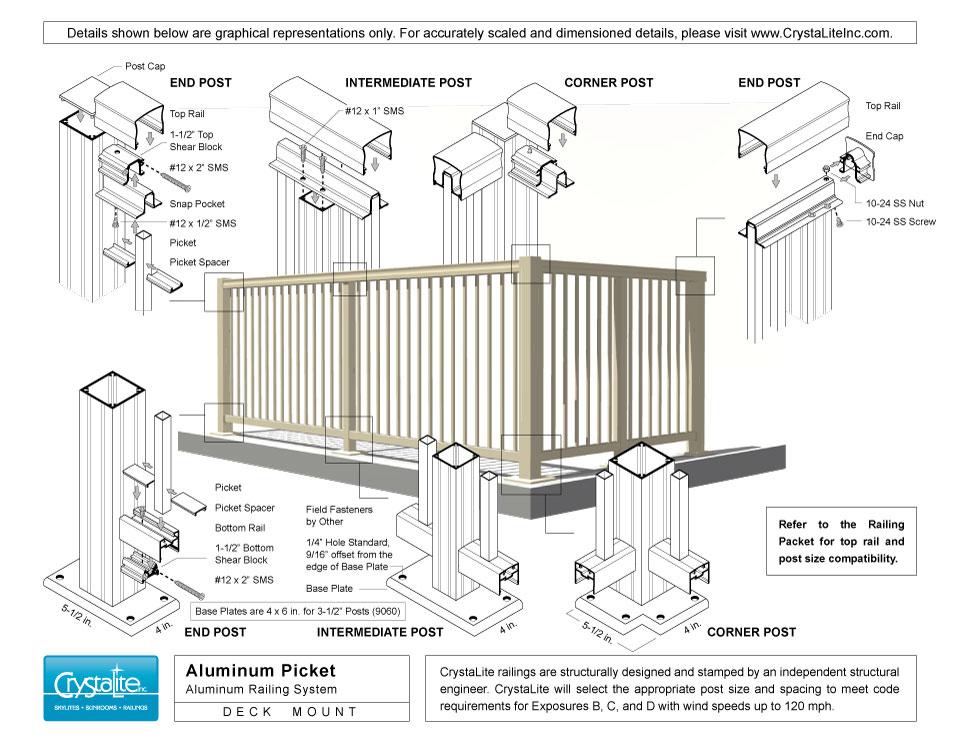 Aluminum Picket Railing | CrystaLite, Inc