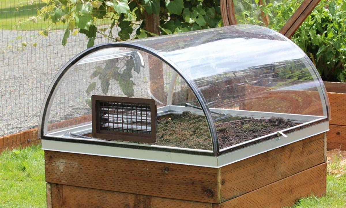 Growizard raised garden greenhouse system crystalite inc for How to cover a bed